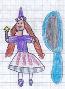 Mirella dibujada por Miguel Ángel